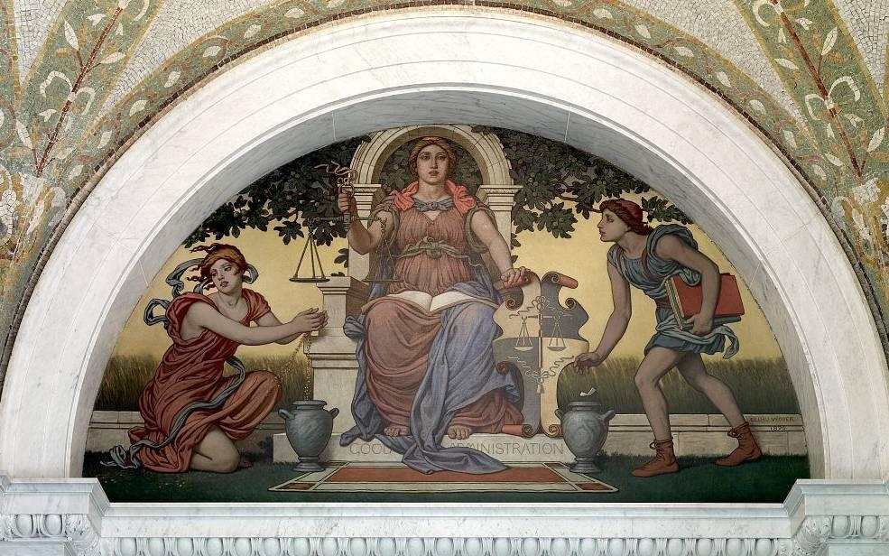 Good Legislation mural by Elihu Vedder