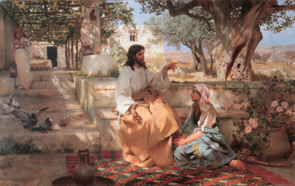 Christ with Martha and Maria, by Siemiradzki